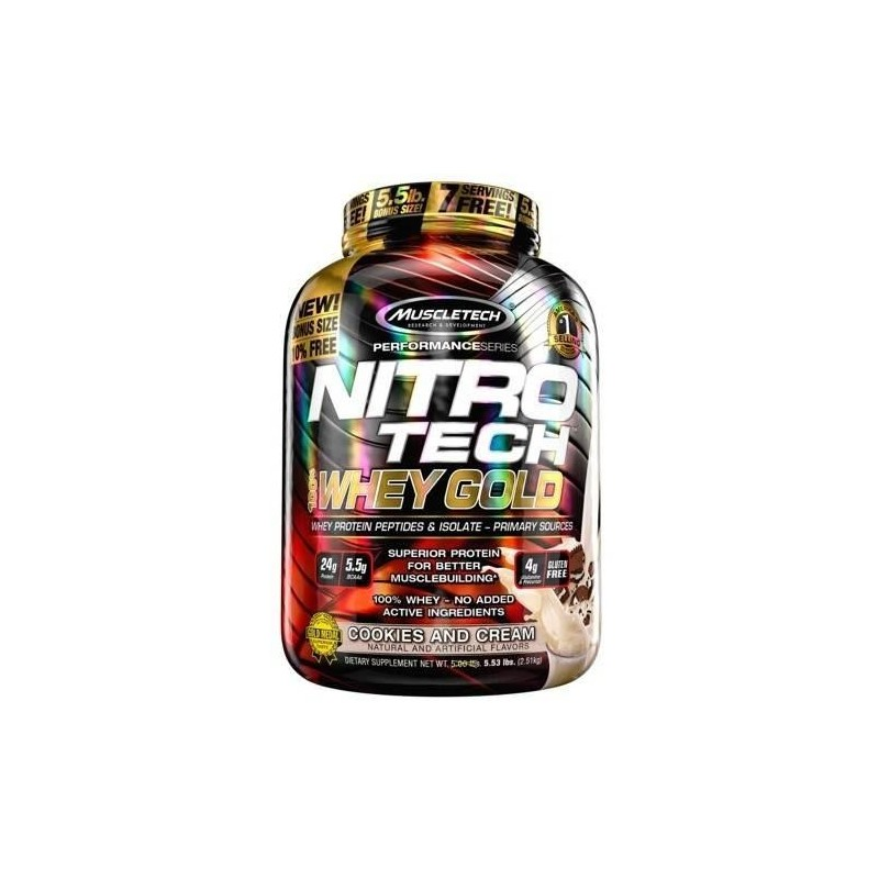 MuscleTech 100% Whey Gold 5.53lb 2508 γραμμάριο